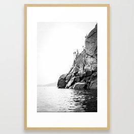 Fjord - L'Anse-St-Jean Framed Art Print