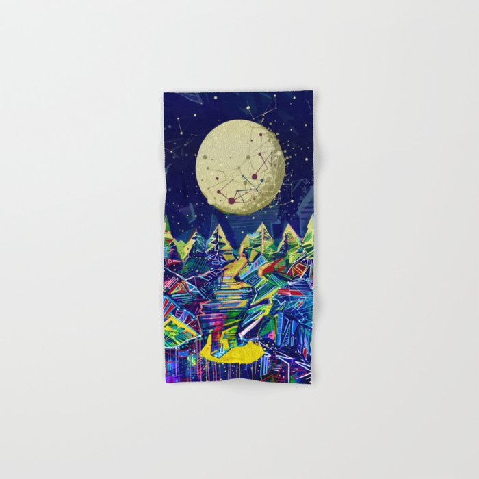 abstract forest Hand & Bath Towel
