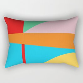 Circle Series - Summer Palette No. 5 Rectangular Pillow