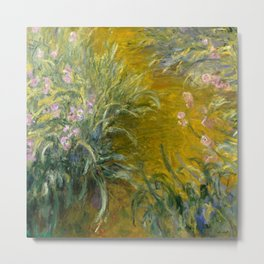 "Claude Monet ""The Path through the Irises"", 1914-1917 Metal Print"