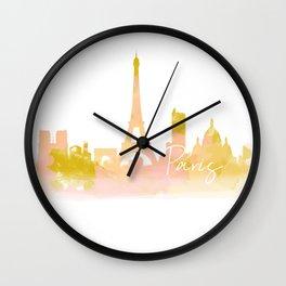 Paris in Peach Wall Clock