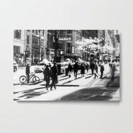 Street Scene New York Metal Print