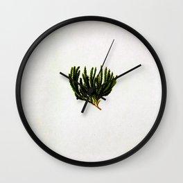 Botanical Moss Wall Clock