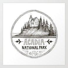 Acadia National Park Circle Art Print
