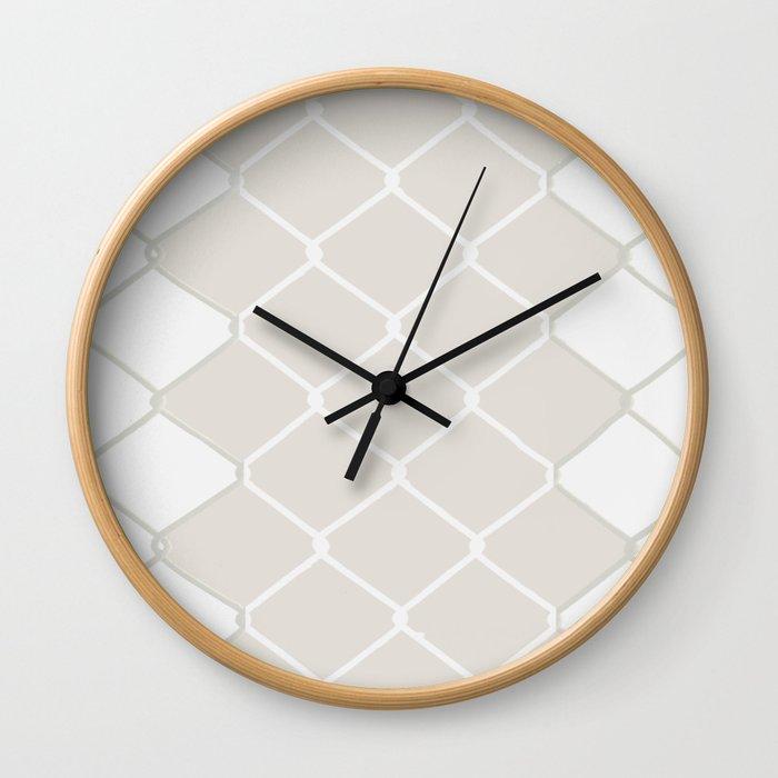 diamond chain pattern Wall Clock