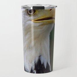Bald eagle telling a story Travel Mug