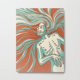 Skeleton Girl Metal Print