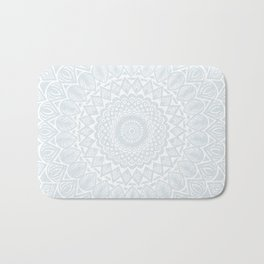 Minimal Minimalistic Light Cool Gray Mandala Bath Mat