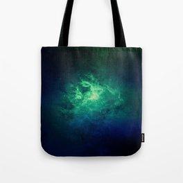 Green Nebula Space Tote Bag