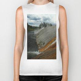 Thermal Geyser Runoff Into Firehole River Biker Tank