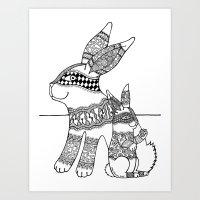 Rabbit Zen 3 Art Print