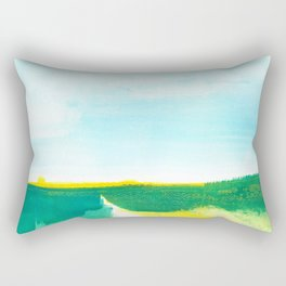 Distant forest abstract landscape Rectangular Pillow