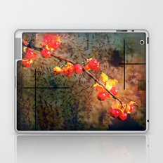 Fields Of Red Berries In The Evening Laptop & iPad Skin