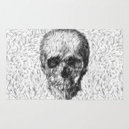 Skull - Skull in white Fur Rug