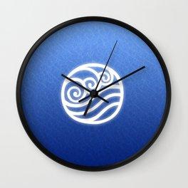 Avatar Water Bending Element Symbol Wall Clock
