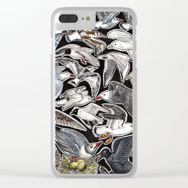 Sea gulls for bird lovers Clear iPhone Case