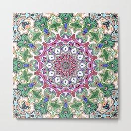 Ornate Colorful Pattern Metal Print