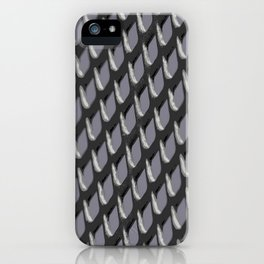 Just Grate Abstract Pattern With Heather Background iPhone Case