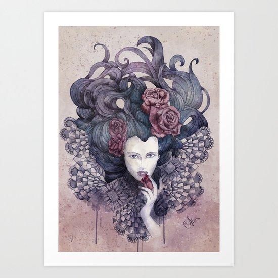 Indigo eyes Art Print