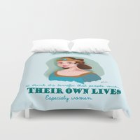 downton abbey Duvet Covers featuring Lady Sybil Crawley Downton Abbey by chiclemonade