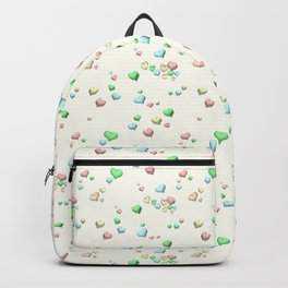 Pastel Candy Hearts Backpack