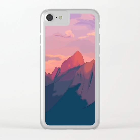 Sunset Hues Clear iPhone Case