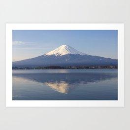 Mt.Fuji from lake Kawaguchiko, Japan Art Print