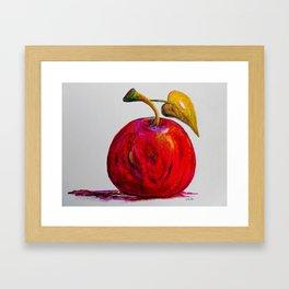 Kaleidoscope Apple or APPLE FOR THE TEACHER Framed Art Print