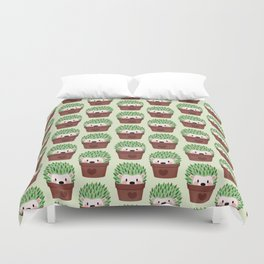 Hedgehogs disguised as cactuses Duvet Cover