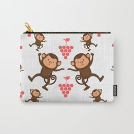 Monkeys and Grapes Carry-All Pouch