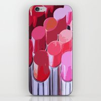 lipstick iPhone & iPod Skins featuring Lipstick by Love2Snap