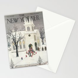 """Cover of """" The new Yorker"""" magazine. Dec. 18 1948. Stationery Cards"""