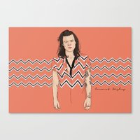 coconutwishes Canvas Prints featuring Harry Chevron  by Coconut Wishes