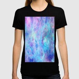 Bright Tarantula Nebula Aqua Lavender Periwinkle T-shirt