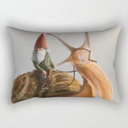 Gnome on Snail Rectangular Pillow