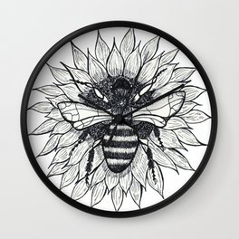 Bee and Sunflower Wall Clock