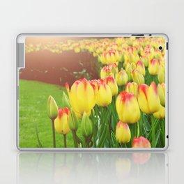Yellow Red Tulips Laptop & iPad Skin