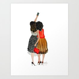 Holiday Selfie Art Print