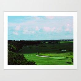 Golf Game Goals Art Print