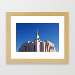 LDS Gilbert Temple Framed Art Print