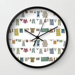 HANGING CLOTHES Wall Clock