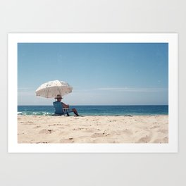 Old mate at the beach Art Print
