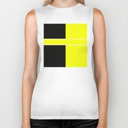 Team Color 6...yellow,black Biker Tank