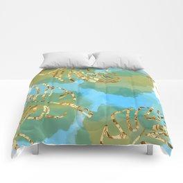 leaf & water scene Comforters