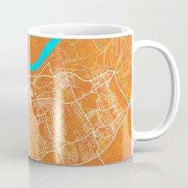 Middlesbrough, England, Gold, Blue, City, Map Coffee Mug