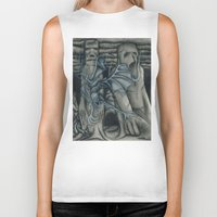 hunting Biker Tanks featuring Hunting by GLR67