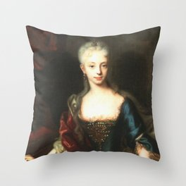 Maria Theresa before She Was Empress  Throw Pillow