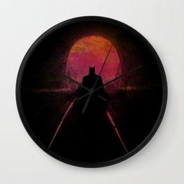 Bat-man: The dark hero Wall Clock