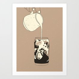 Iced coffee and cream  Art Print