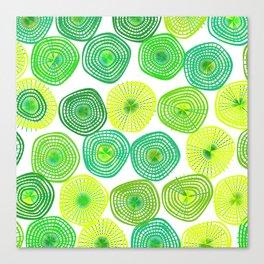 Lemon-Lime Lift Spring Abstract Canvas Print